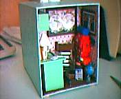 Dollhouse Miniature - Eric's gift - Kleenex box cover with a view