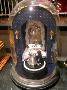 Miniature Window Box Scene in a Dome - for Jennifer's Wedding