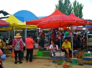 Mushroom market in YiMen