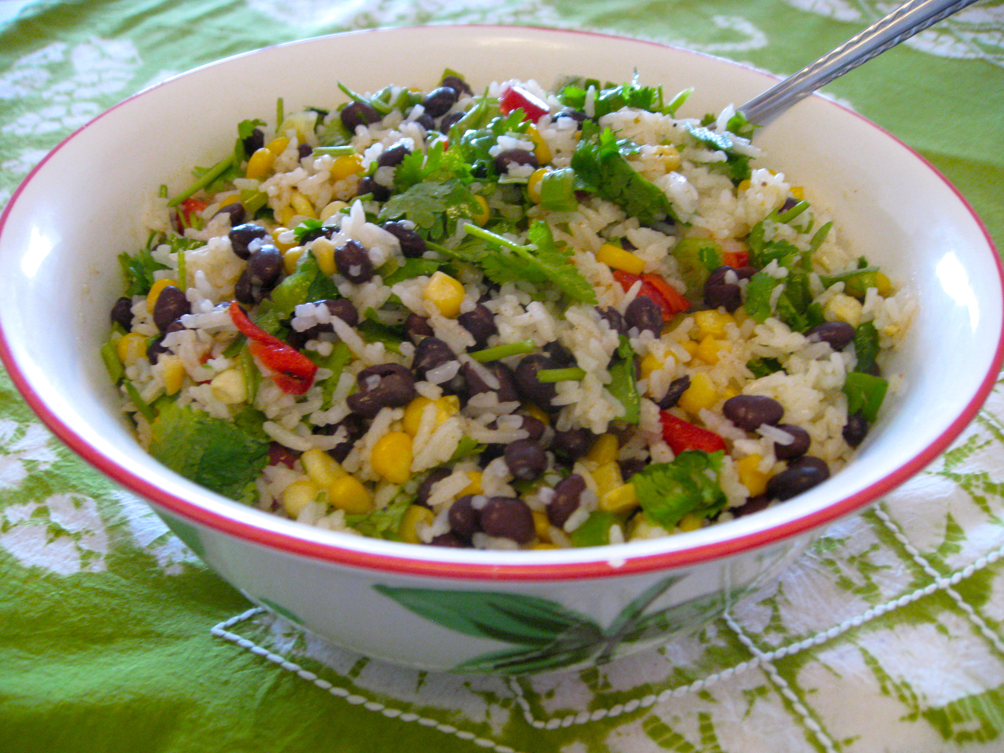 Mexican Rice Salad Fit For A Party Letters From Roz