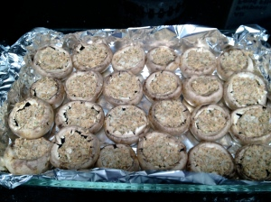 Stuffed Mushrooms Ready to Bake