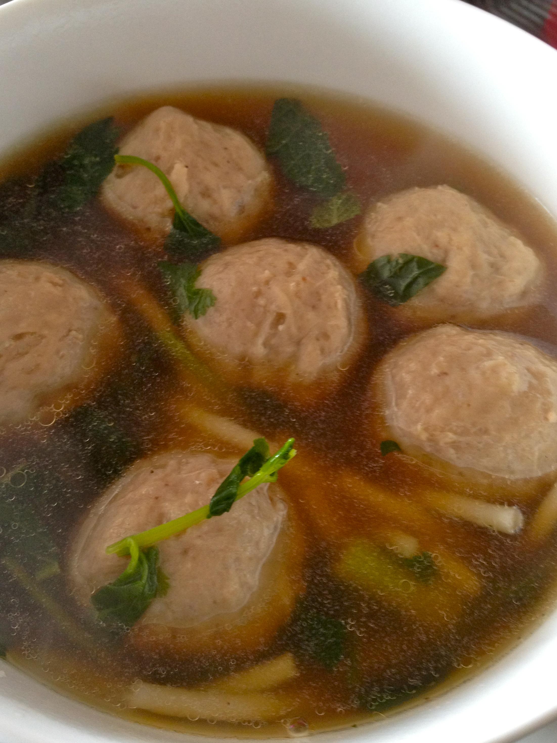 Pork mince balls soup recipe
