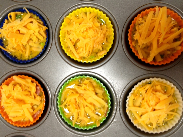 Breakfast Egg Muffins Read to Bake