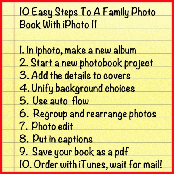 10 Easy Steps To A Family Photo Book With iPhoto 11