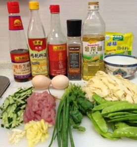 Ingredients for Noodle Stir-Fry