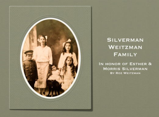 Silverman Weitzman Family Album using iPhoto 11