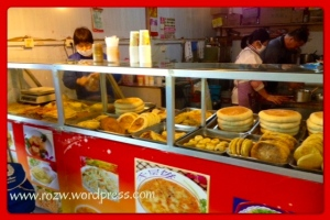 Traditional Chinese Bake Shop with Guandu Baba Stacked Up