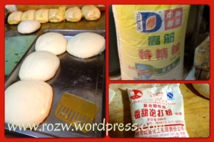 Ingredients for the Guandu Baba Dough