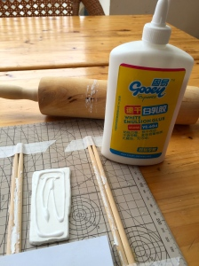 or glue to the PaperClay
