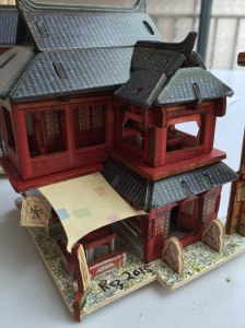 Ancient Chinese Inn Edges Painted