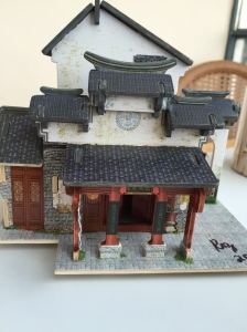 Ancient Chinese Silk Factory Edges Painted