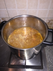 Pumpkin Carrot Soup cooking